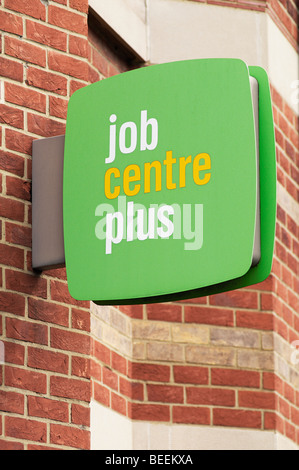 Job Centre Plus Sign, United Kingdom. - Stock Photo