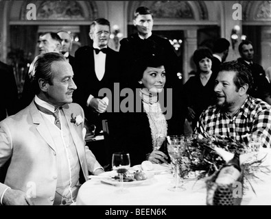 Actress Sophia Loren with David Niven and Peter Ustinov in the film 'Lady L' - Stock Photo