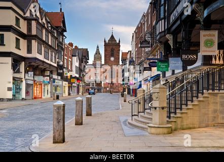 Bridge Street, Chester, Cheshire, England, UK - Stock Photo