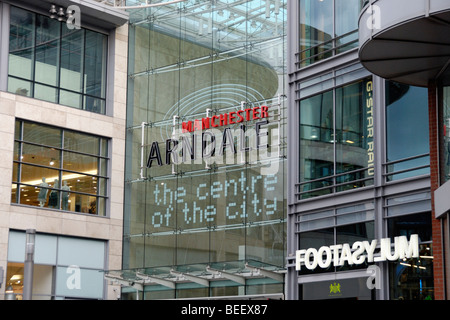 The Manchester Arndale Centre, the main shopping centre in Manchester, England, UK - Stock Photo