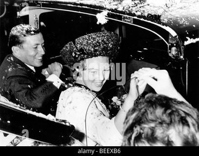 Queen Beatrix of the Netherlands and her husband Claus von Amsberg. - Stock Photo