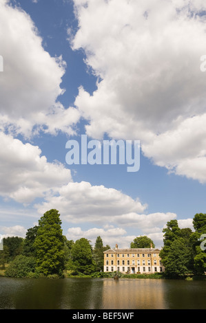 View of Museum No 1, over The Pond in Kew Gardens. - Stock Photo
