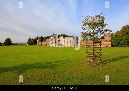 East frontage of Wentworth Woodhouse, Wentworth, Rotherham, South Yorkshire, England, UK. - Stock Photo