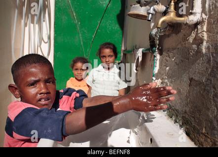 Boy on a trap . Irbid , Jorda - Stock Photo