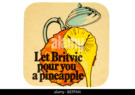 let britvic pour you a pineapple - Stock Photo