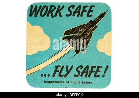 work safe fly safe inspectorate of flight safety - Stock Photo