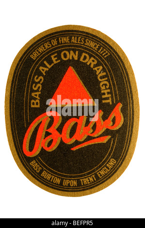 bass ale on draught bass burton upon trent england brewers of fine ales since 1777 - Stock Photo