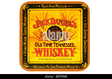 jack daniels old no 7 brand old time tennessee whiskey lynchburg pop 361 tennessee whiskey as our fathers made it - Stock Photo