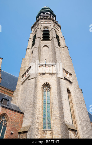 Abbey tower Lange Jan in Middelburg / Holland - Stock Photo