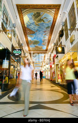 piccadilly arcade, birmingham. Shopping and retail outlets - Stock Photo
