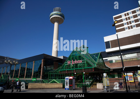radio city tower and st johns shopping centre in liverpool city centre shopping district merseyside england uk - Stock Photo