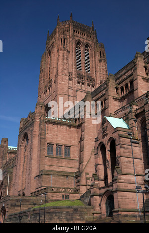 the Cathedral Church of Christ Liverpool Anglican Cathedral Merseyside England UK - Stock Photo