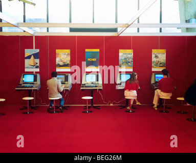 1980s Computer playstations exhibition - Stock Photo