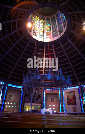 interior of Liverpools metropolitan catholic cathedral of christ the king merseyside england uk - Stock Photo