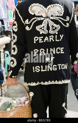 The Pearly Kings, Queens, Princes and Princesses arrive for their annual Harvest Festival at St. Martin in the Fields, - Stock Photo