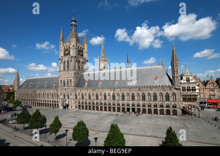 The Cloth Halls in the Grote Markt Albert 1. - Stock Photo