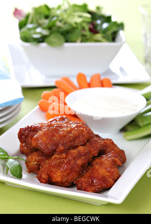 Hot chicken wings - Stock Photo