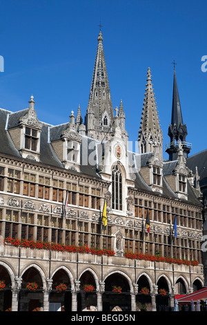 Detail of the Cloth Hall in the Grote Markt. - Stock Photo