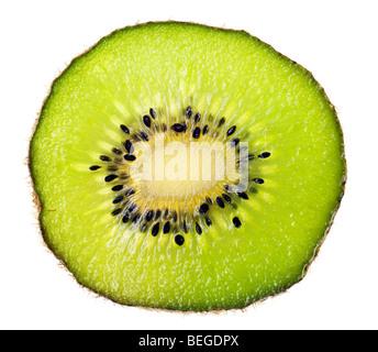 kiwi isolated on a pure white background - Stock Photo