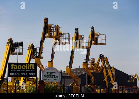 Facelift Platform Hire, Liverpool, UK - Stock Photo