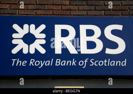 RBS the royal bank of scotland logo - Stock Photo