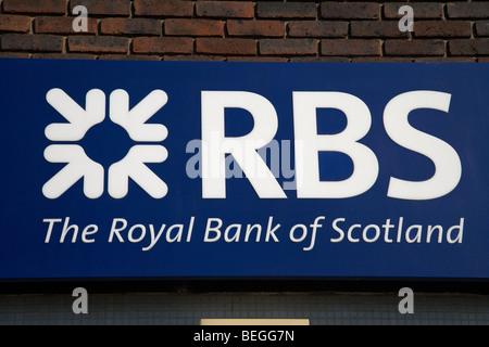 RBS the royal bank of scotland logo - Stock Photo
