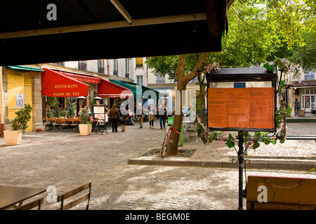 MARCHE SAINTE_CATHERINE SQUARE, PARIS - Stock Photo