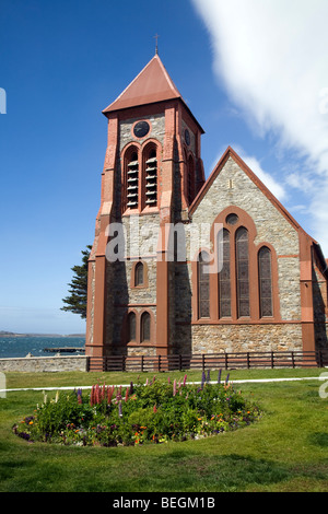 Christ Church Cathedral, Port Stanley, Falkland Islands - Stock Photo