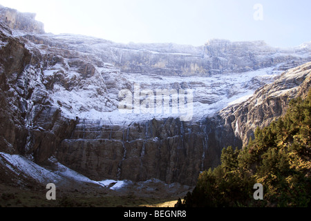 Spain, Snow on the Pyrenees Mountains - Stock Photo