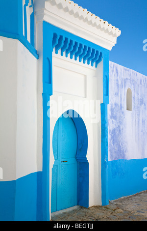 Houses in the Medina of Chefchaouen Morocco - Stock Photo