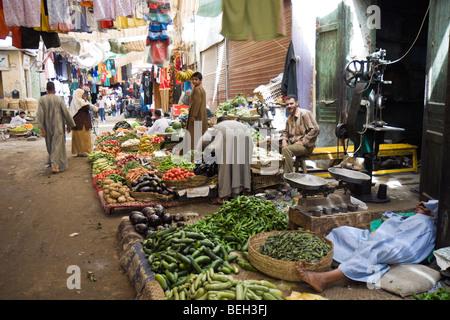 Fruit Market of Luxor, Luxor, Egypt - Stock Photo