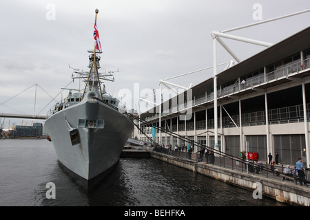 HMS Somerset at DSEi 2009 - Stock Photo