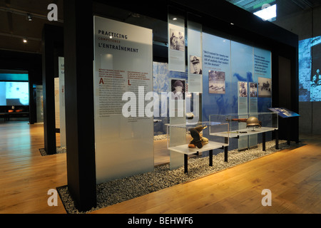 Interior of the WW2 museum at the Normandy American Cemetery and Memorial in Colleville-sur-Mer, Normandy, France - Stock Photo