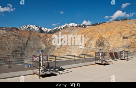 Utah Kennecott Utah Copper Bingham Canyon Mine world's largest man-made excavation visitor center overlook - Stock Photo
