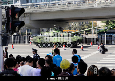 Military tanks, 99A leave the parade marking China's 60th anniversary of the People's Republic of China. 01-Oct - Stock Photo