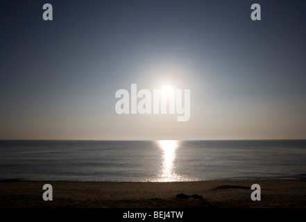 Early morning sunrise over the north Sea Southwold Suffolk England - Stock Photo