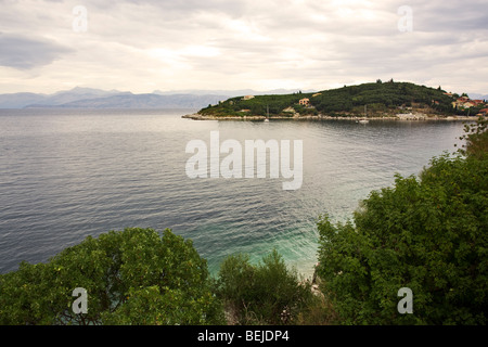 peninsula of Kassiopi, Corfu, Greece - Stock Photo