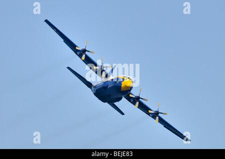 'Fat Albert' US Marine Corp - Navy Blue Angels aerobatic team. Lockheed-Martin C-130T Hercules - Stock Photo
