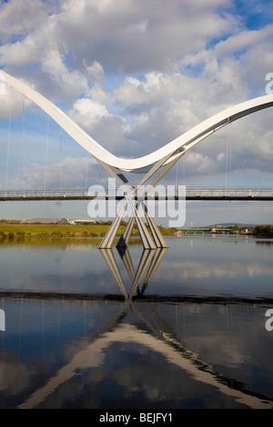 Infinity Bridge, Stockton-on-Tees, Teeside, UK - Stock Photo