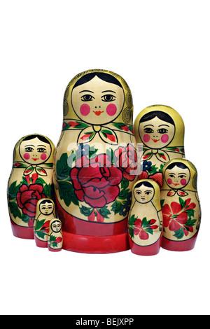 Matroschkas, Russian dolls - Stock Photo