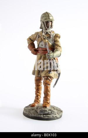 A 1640's Cavalry Trooper from the New Model Army. A collectible Franklin Mint soldier - Stock Photo