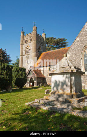 Church of St Mary the Virgin in Hambleden Village near Henley, Oxfordshire, Uk - Stock Photo
