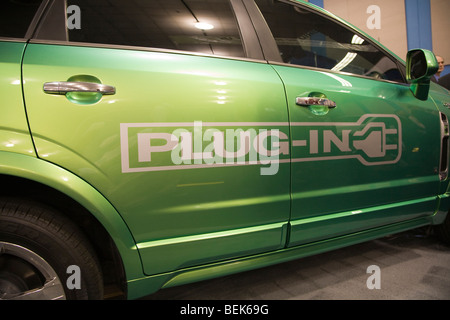 Saturn Vue plug-in hybrid preproduction vehicle courtesy of General Motors. Opening day of Plug-In 2008 Conference - Stock Photo