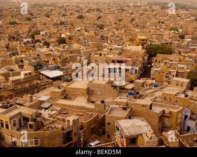 the view of jaisalmer yellow sandstone city from jaisalmer