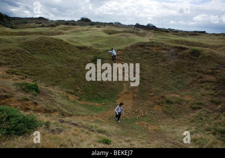 Normandy France WW2 remains German Blockhouse Atlantic Wall Pointe du Hoc - Stock Photo