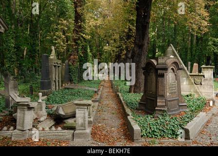 Berlin. Germany. Jewish cemetery on Schönhauser Allee. - Stock Photo