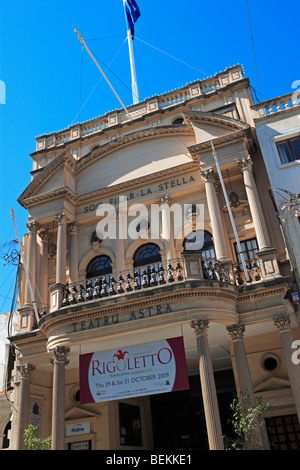 The Astra Theatre, Teatru Astra, Victoria, Gozo, Malta - Stock Photo