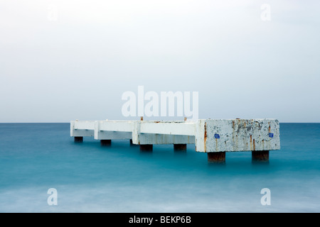 Seaside pier in the evening - Stock Photo