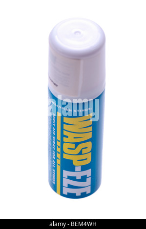 Spray can of Waspeze first aid for wasp, bee and jellyfish stings - Stock Photo