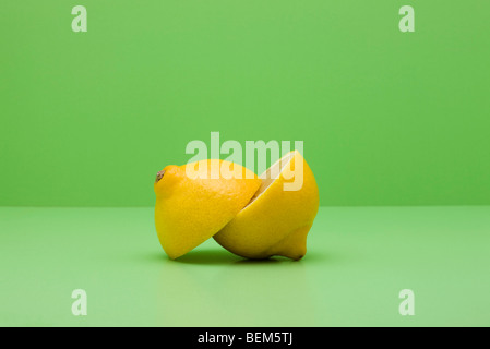 Lemon, cut in half - Stock Photo
